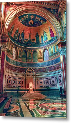 The Colorful Interior Of Roman Catholic Cathedral Metal Print