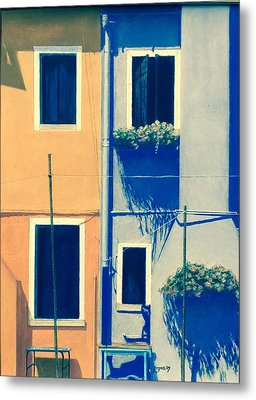 The Colors Of Burano Metal Print