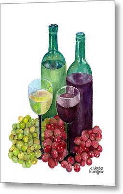 The Colors Of Wine Metal Print by Arline Wagner