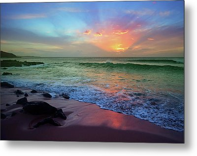 Metal Print featuring the photograph The Colour Before The Darkness by Tara Turner