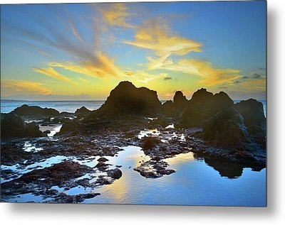Metal Print featuring the photograph The Colours Amongst Sea, Sky And Stone by Tara Turner