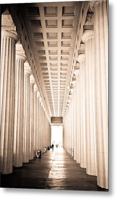 The Columns At Soldier Field Metal Print