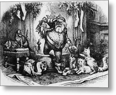 The Coming Of Santa Claus Metal Print