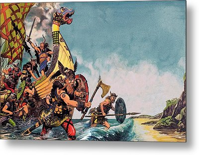 The Coming Of The Vikings Metal Print by Peter Jackson