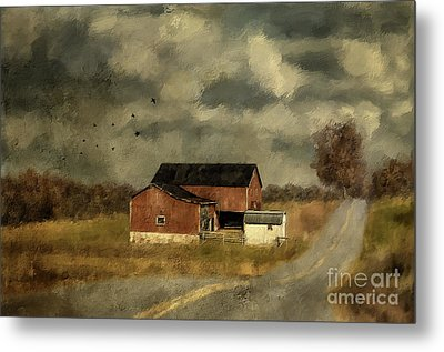 Metal Print featuring the digital art The Coming On Of Winter by Lois Bryan