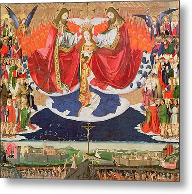 The Coronation Of The Virgin Metal Print by Enguerrand Quarton