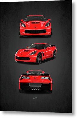 The Corvette Z06 Metal Print by Mark Rogan