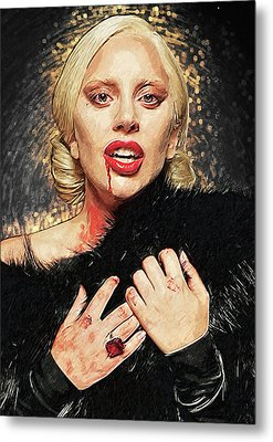 Metal Print featuring the digital art The Countess - American Horror Story by Taylan Apukovska