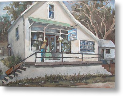 Metal Print featuring the painting The Country Store by Tony Caviston