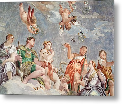 The Court Of Love  Metal Print by Veronese