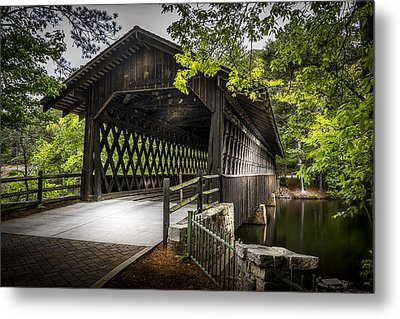The Coverd Bridge Metal Print by Marvin Spates