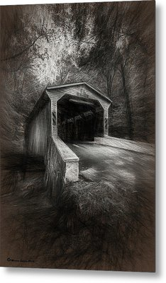 The Covered Bridge Metal Print by Marvin Spates