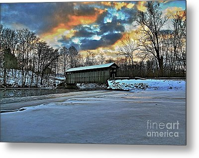 The Covered Bridge Metal Print by Robert Pearson