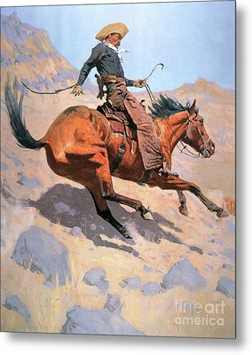 The Cowboy Metal Print by Frederic Remington