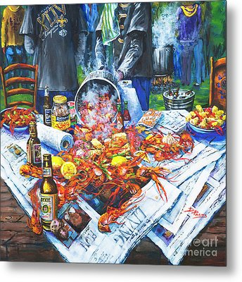 The Crawfish Boil Metal Print