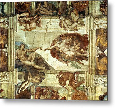 The Creation Of Adam Metal Print by Michelangelo