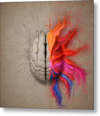 The Creative Brain Metal Print by Johan Swanepoel