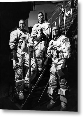 The Crew For The Apollo 8 Spacecraft Metal Print by Everett