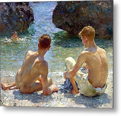 The Critics Metal Print by Henry Scott Tuke