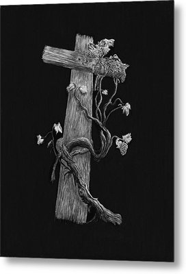 The Cross And The Vine Metal Print