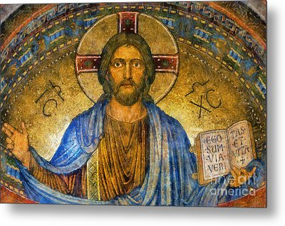 Metal Print featuring the digital art The Cross Of Christ by Ian Mitchell