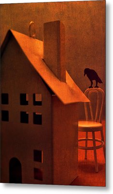 The Crows House Metal Print by Jeff  Gettis