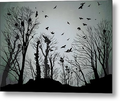 The Crows Roost - Twilight Blue Metal Print by Philip Openshaw