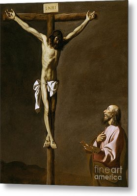 The Crucified Christ With A Painter Metal Print