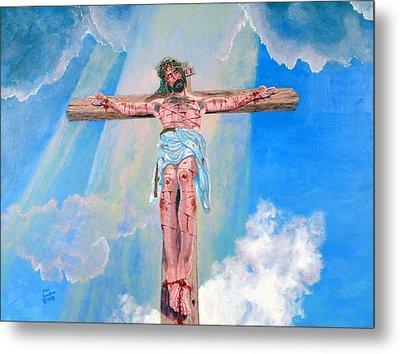The Crucifixion Daytime Metal Print by Stan Hamilton