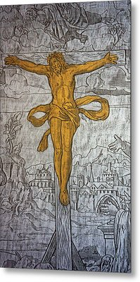 The Crucifixion Metal Print by Don Columbus