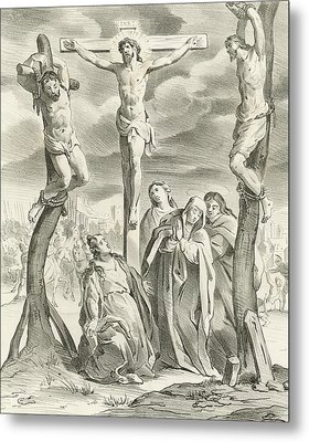 The Crucifixion Metal Print by Hendrik van the Elder Balen