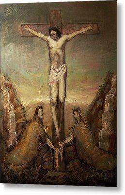 The Crucifixion Of Christ Metal Print by Derek Van Derven