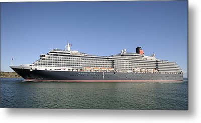 Metal Print featuring the photograph The Cruise Ship Queen Victoria by Bradford Martin