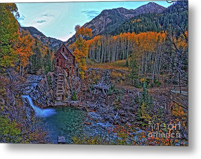 Metal Print featuring the photograph The Crystal Mill by Scott Mahon