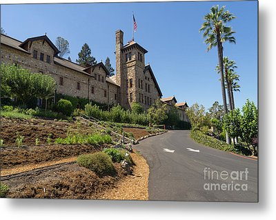 The Culinary Institute Of America Greystone St Helena Napa California Dsc1694 Metal Print by Wingsdomain Art and Photography