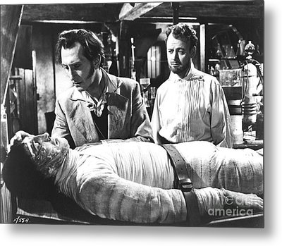 The Curse Of Frankenstein 1957 Baron Victor Frankenstein Metal Print