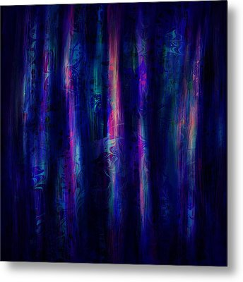The Curtain Metal Print by Rachel Christine Nowicki