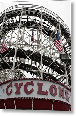 The Cyclone At Coney Island Metal Print