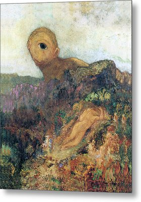 The Cyclops Metal Print by Odilon Redon