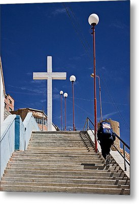Metal Print featuring the photograph The Daily Climb by Ron Dubin