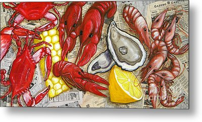 The Daily Seafood Metal Print by JoAnn Wheeler