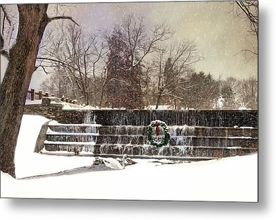 Metal Print featuring the photograph The Dam At Christmas by Robin-lee Vieira