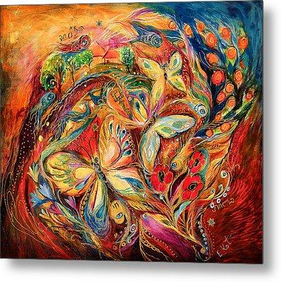 The Dance Of Butterflies Metal Print by Elena Kotliarker