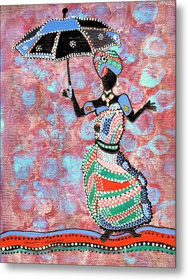The Dancing Lady Metal Print by Connie Valasco