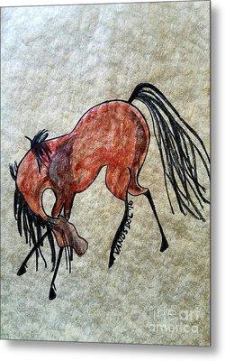 The Dancing Pony Metal Print by Scott D Van Osdol