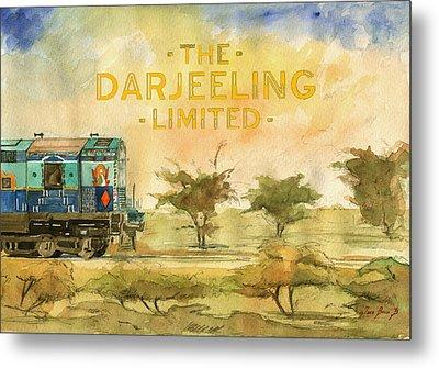 The Darjeeling Limited Poster Film Wes Anderson Metal Print by Juan  Bosco