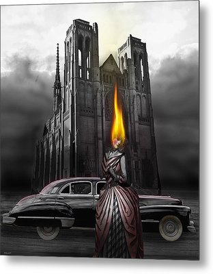 The Dark Angel Metal Print by Larry Butterworth