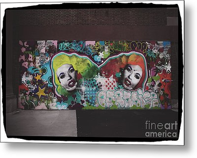 Metal Print featuring the photograph The Dark Side -  Graffiti by Colleen Kammerer