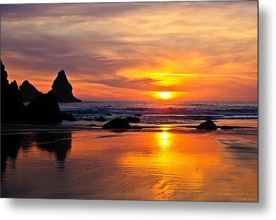 The Days Reflections Metal Print by Jake Johnson