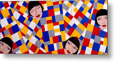 The De Stijl Dolls Metal Print by Tara Hutton